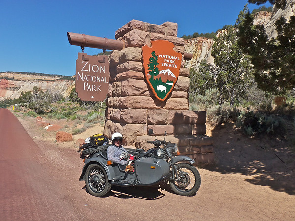 Summer trip, 2014, Ural's, and the Freightliner.